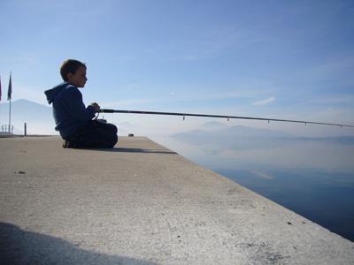 Lake Zug with Diego