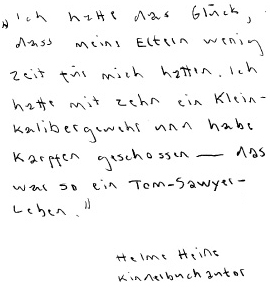 Helme Heine, Kinderbuchautor