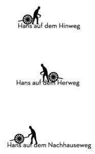 Hans auf dem nach Hauseweg
