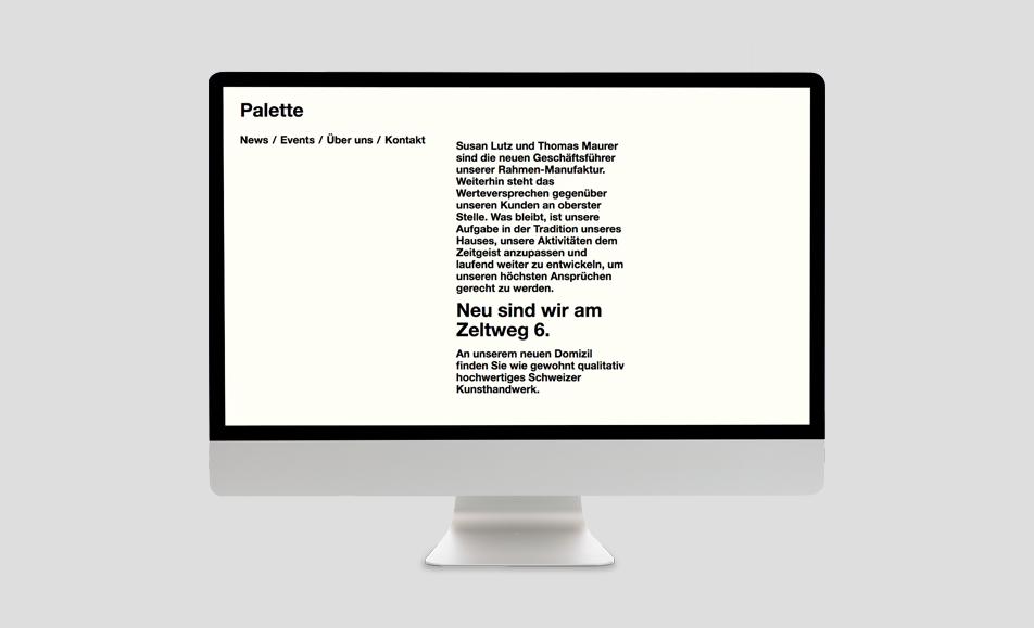 Palette Zürich Internet