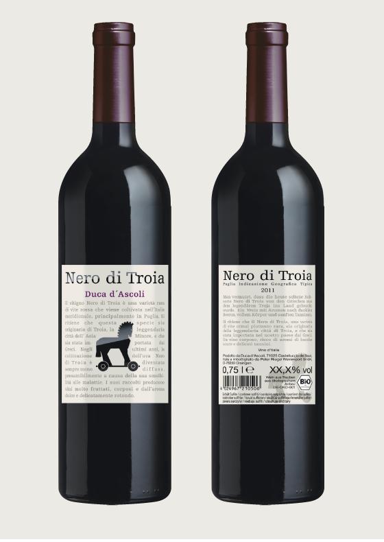 Produktgestaltung 2013: Nero di Troia. Duca d'Ascoli