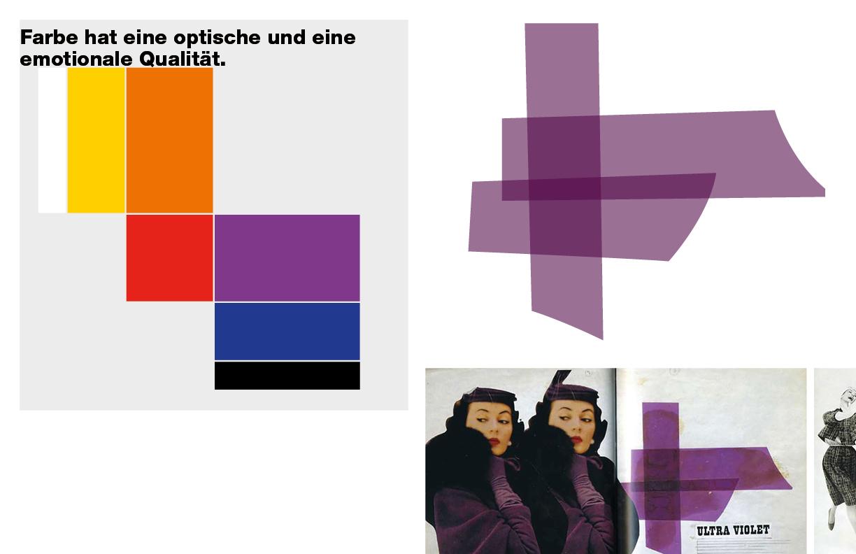 Farbe hat eine optische und eine emotionale Qualität. Form und Farbe