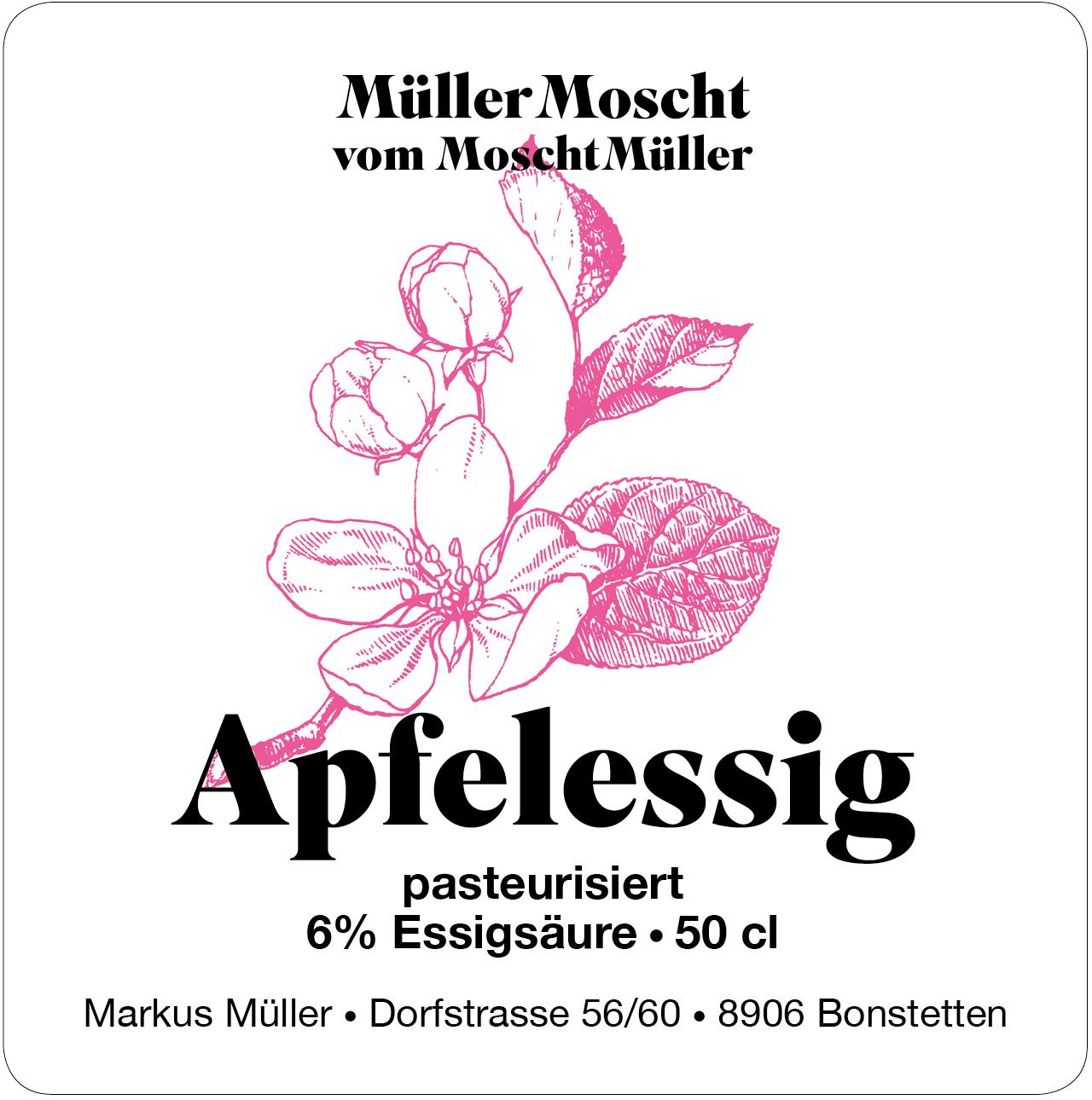 Müller Moscht, Apfelessig, Bonstetten, Markus und Hedi Müller