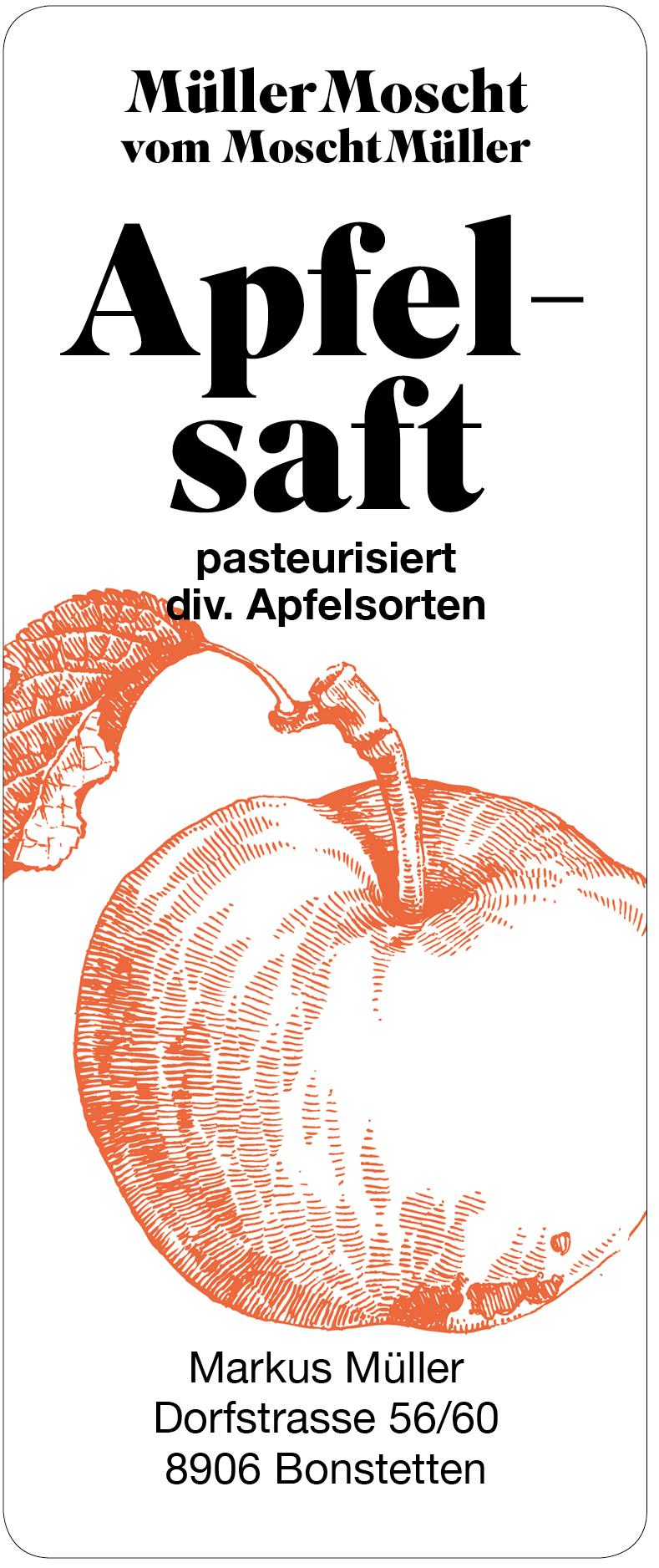 Müller Moscht, Apfelsaft, Bonstetten, Markus Müller