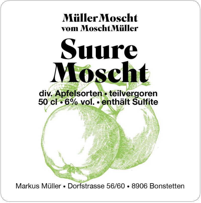 Müller Moscht, Suure Moscht, Bonstetten, Markus Müller