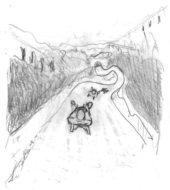 Schlittenfahrt in Bergün