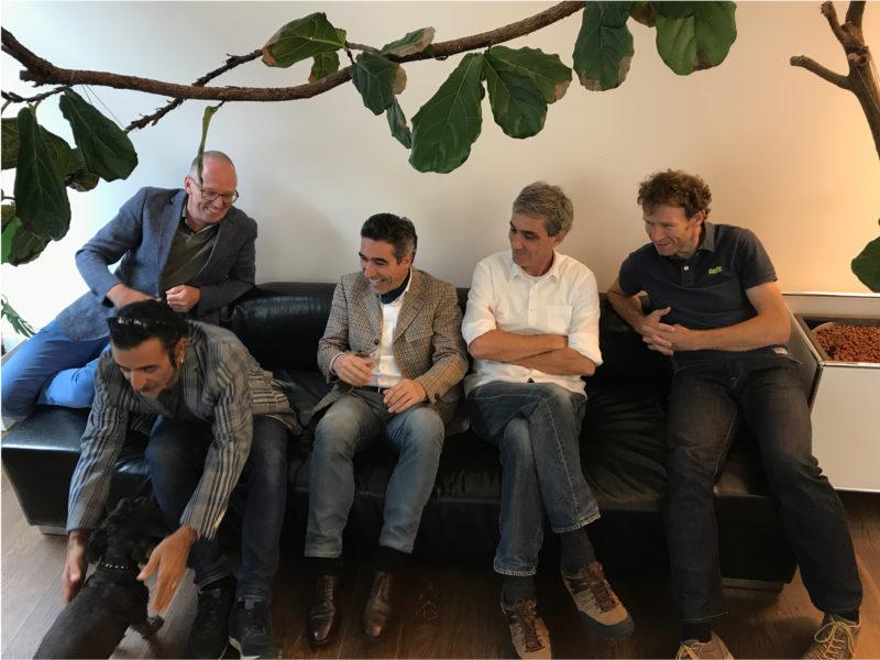 Coworking Westpark: Marc Ziegler, Rutschi Sindico, Patrick Meier, ich, Alex Buschor. Photo: Andrea Vock