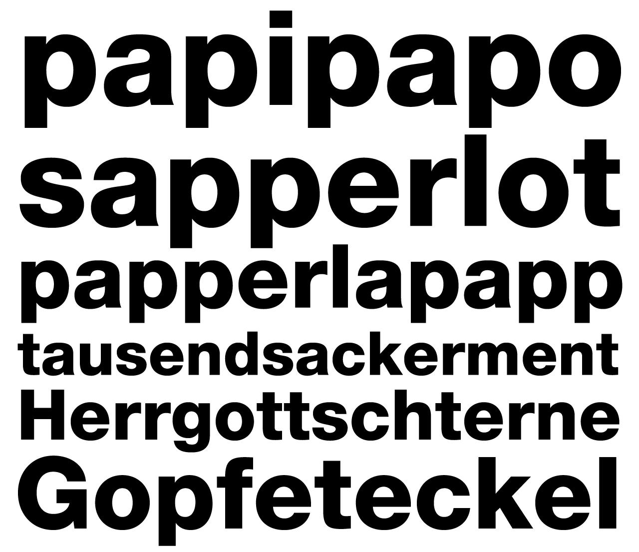 Gopfeteckel sapperlot papperlapapp tausendsackerment Hergottschterne Gopfeteckel