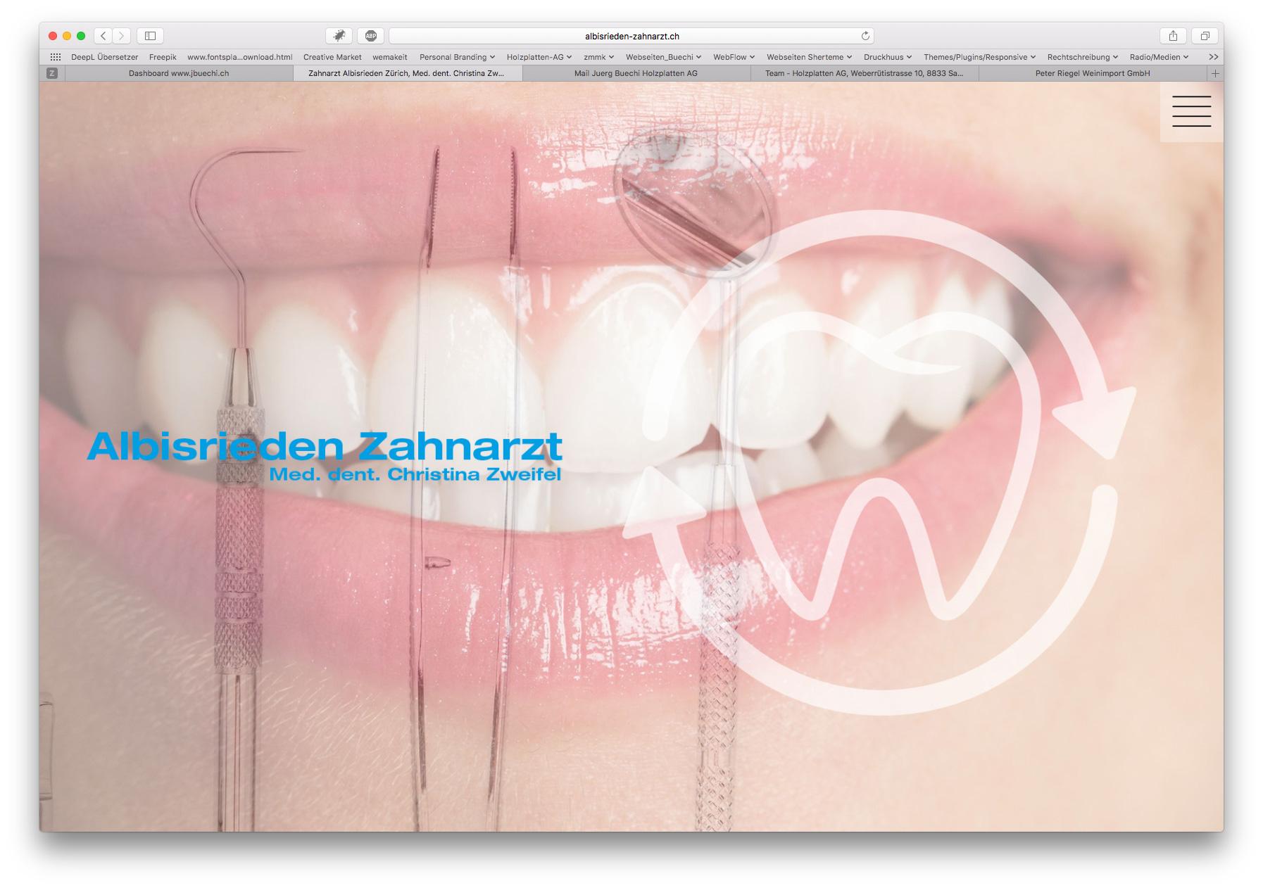 Gestaltung Webseite Albisrieden Zahnarzt, Zürich