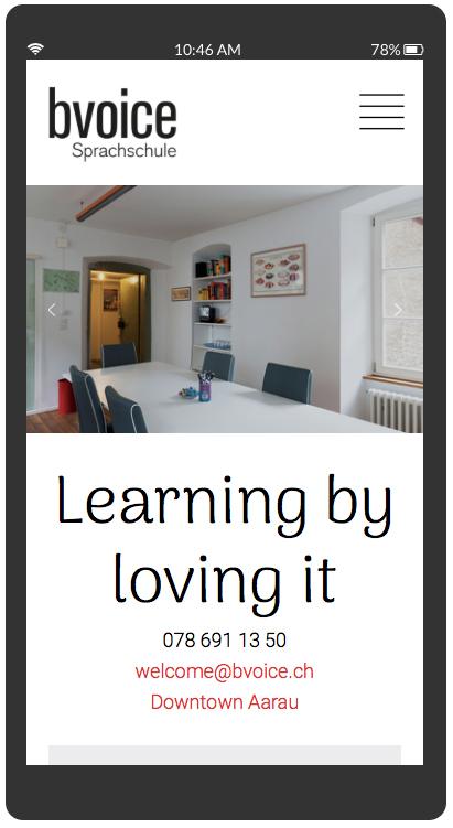 bvoice Sprachschule Aarau. Learning by loving it