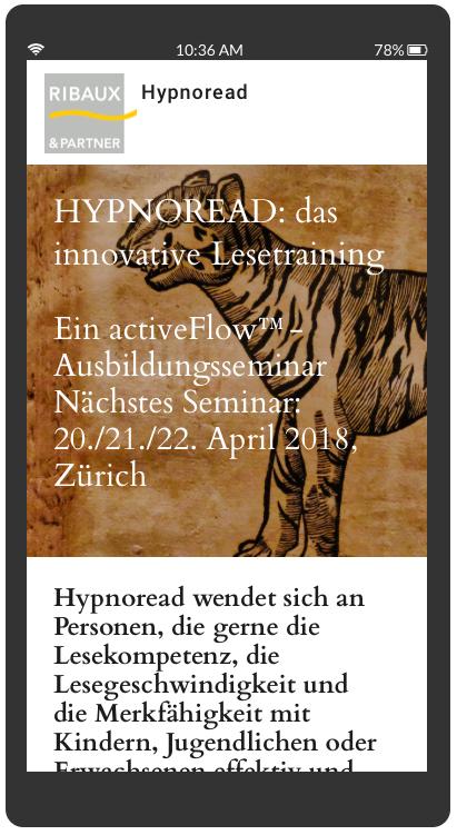 Hypnoread Schnelllese Seminar Zürich